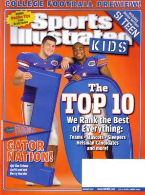 Tim Tebow Florida Gators 2007 Sports Illustrated for Kids magazine (with Percy Harvin) MINT