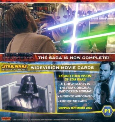 Star Wars Revenge of the Sith promo card P1