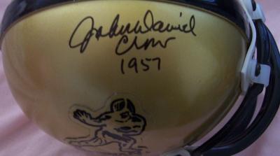 John David Crow autographed Heisman mini helmet