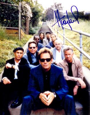 Huey Lewis autographed 8x10 photo
