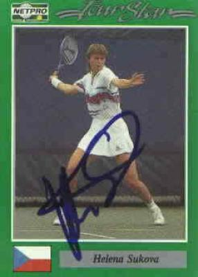 Helena Sukova autographed 1991 Netpro tennis card