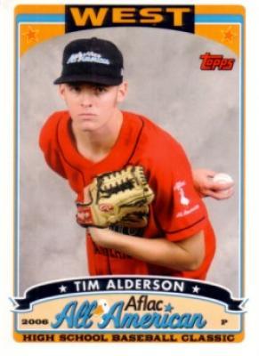 Tim Alderson 2006 AFLAC Topps Rookie Card