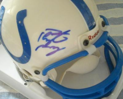 Peyton Manning autographed Indianapolis Colts mini helmet