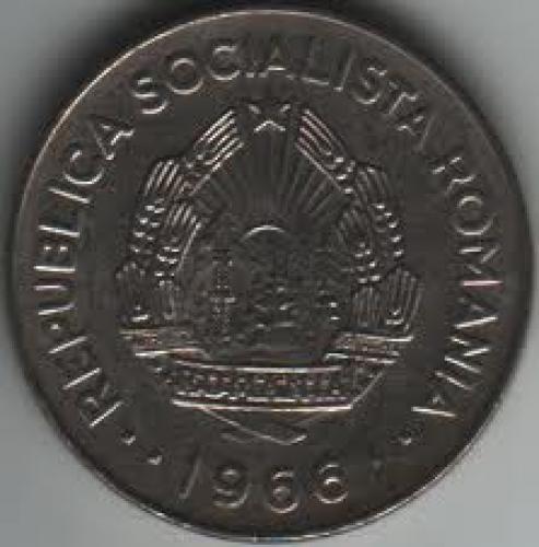 Coins; Romania 1 Leu 1966
