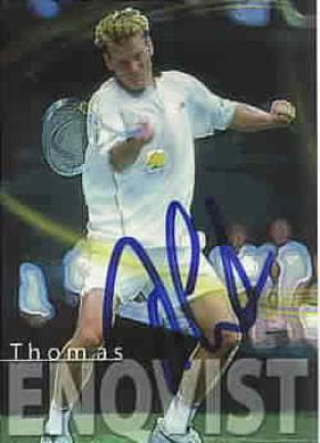 Thomas Enqvist autographed 2000 ATP Tour tennis card