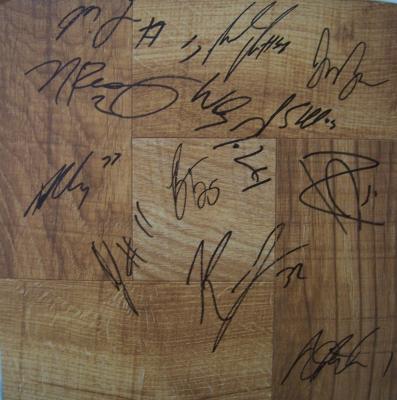 2009-10 Syracuse team autographed floor (Jim Boeheim Wesley Johnson)