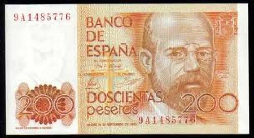 Banknotes, Spain /  200 Pesetas