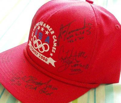 USA Softball stars autographed 2000 U.S. Olympic cap (Lisa Fernandez Michele Smith)