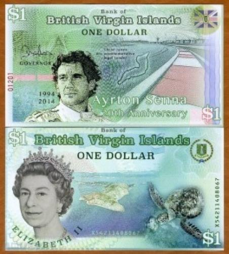 British Virgin Islands, 1 dollar, 2014