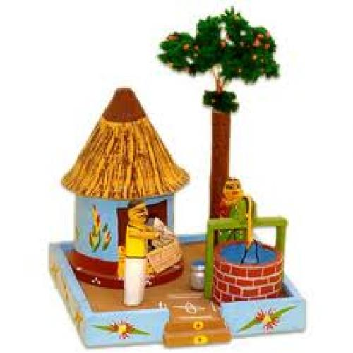 Children Wooden Toy,  Indian Character