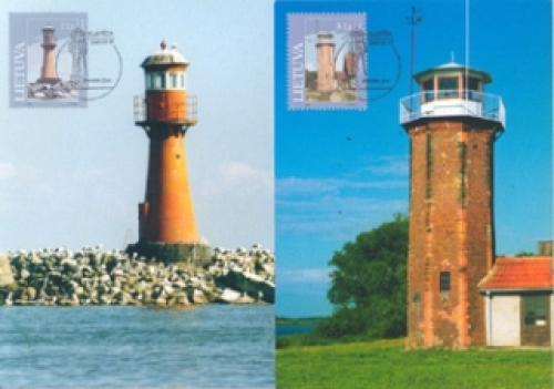mint stamps of  LITHUANIA. Lighthouses