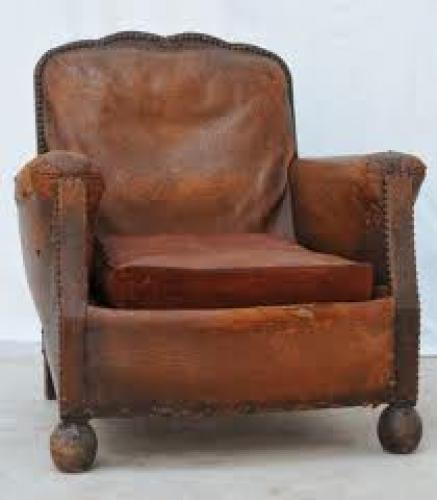 Antiques;  Vintage club armchair, 1940s antique furniture