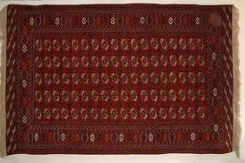 Antiques; Turkmen Tekke Rug made in Turkmenistan in 1970.