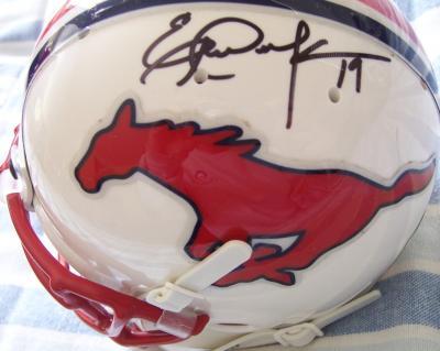 Eric Dickerson & Craig James autographed SMU Mustangs mini helmet
