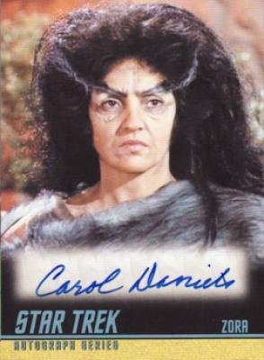 Carol Daniels Star Trek certified autograph card