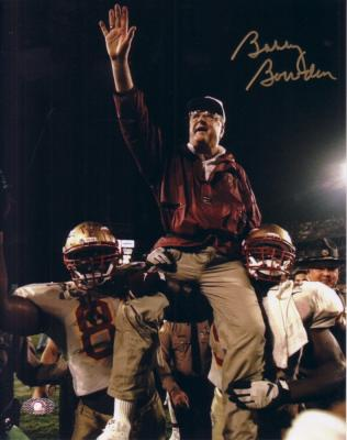 Bobby Bowden autographed Florida State 8x10 victory wave photo