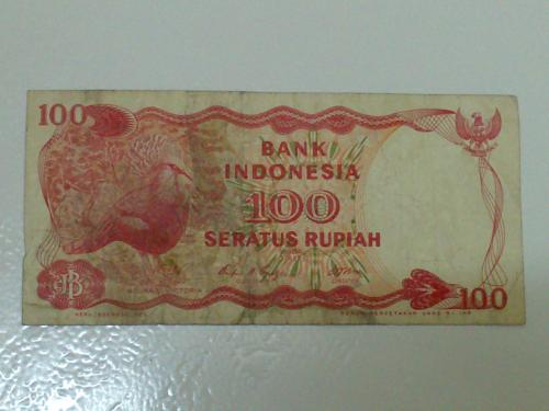Indonesia Bank Note - 100Rupiah