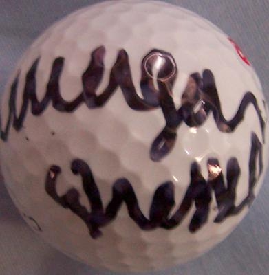 Morgan Pressel autographed Callaway golf ball