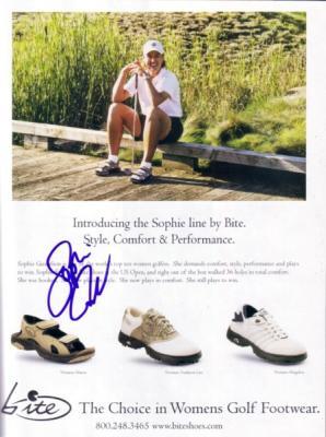 Sophie Gustafson autographed magazine ad