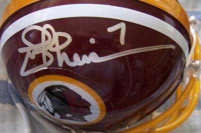 Joe Theismann autographed Washington Redskins mini helmet