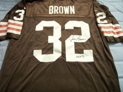 Jim Brown autographed Cleveland Browns authentic jersey (TriStar)
