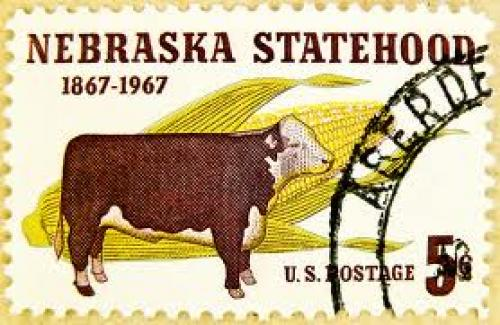 Stamps USA 5c Nebraska Statehood 5c Cent cow United States of America