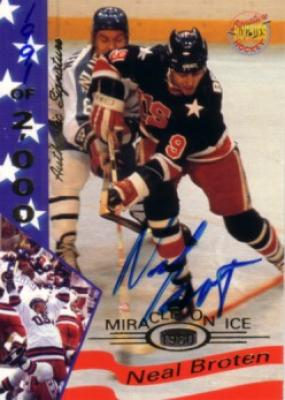 Neal Broten certified autograph 1980 Miracle on Ice Signature Rookies card