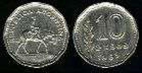 10 Pesos; Year: 1962-1968; (km 60); Nickel-Clad-Steel; GAUCHO
