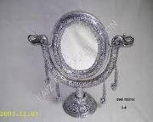 Antique Silver Table Mirror