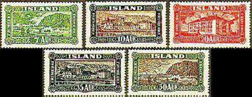 Definitives, views 5v;  Year: 1925