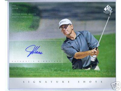 Jay Haas certified autograph 2004 SP Signature Golf 8x10 photo card