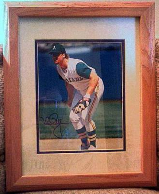 Mark McGwire autographed Oakland A's 8x10 photo matted & framed (rare full signature)