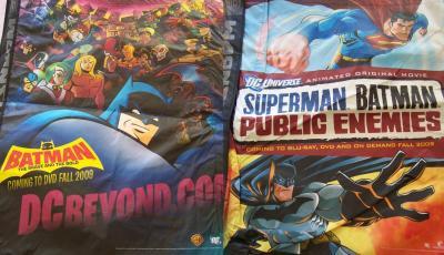 Batman Superman 2009 Comic-Con huge tote bag MINT