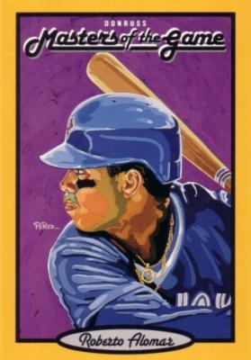 Roberto Alomar 1993 Donruss Masters of the Game jumbo card