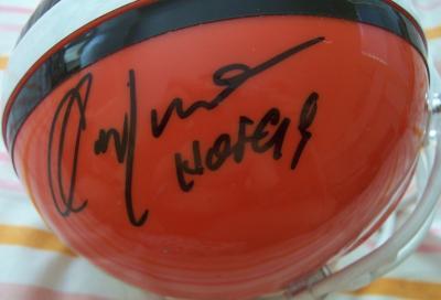Ozzie Newsome autographed Cleveland Browns mini helmet