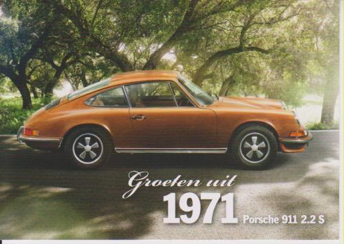 Porsche 911 2.2S 1971 postcard