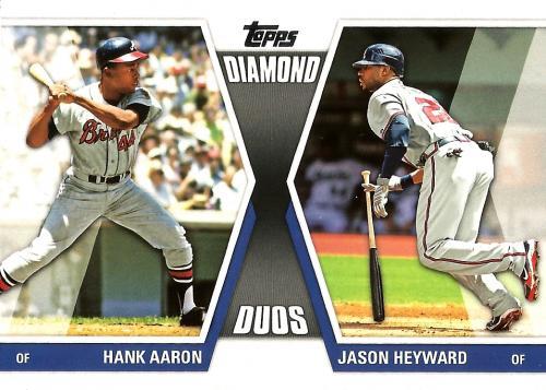 2011 Topps Diamond Duos Series 2 #DD-29 ~ Hank Aaron / Jason Heyward