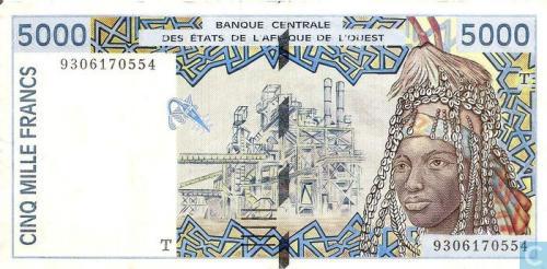 West Afr Stat. T 5000 Francs