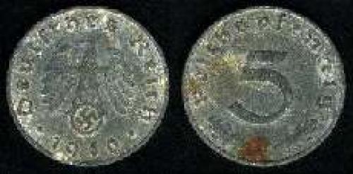 5 reichspfennig 1040-1944 (km 100)
