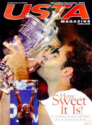 Pete Sampras autographed 2002 USTA tennis magazine