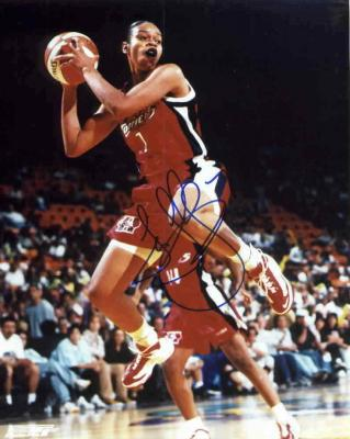 Tina Thompson autographed 8x10 WNBA Houston Comets photo