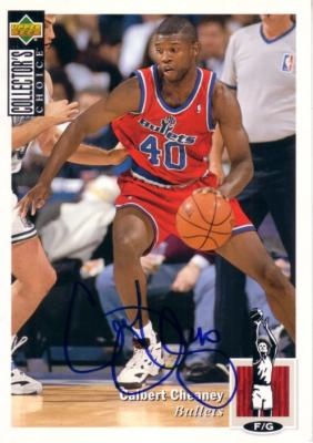Calbert Cheaney certified autograph 1994-95 Collector's Choice jumbo 5x7 card