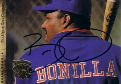 Bobby Bonilla autographed Mets 1994 Upper Deck All-Star jumbo card
