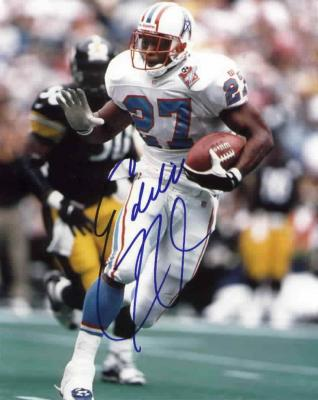 Eddie George autographed 8x10 Tennessee Oilers photo