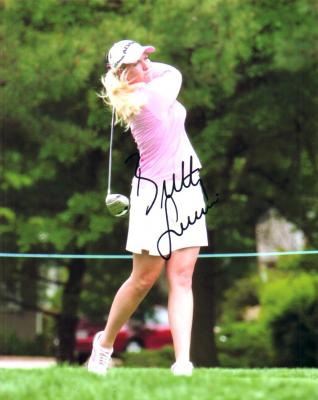 Brittany Lincicome autographed 8x10 photo