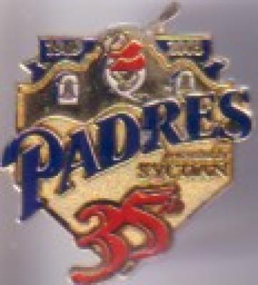 2003 San Diego Padres 35th Anniversary pin