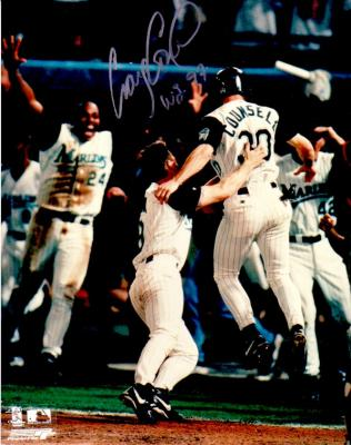 Craig Counsell autographed Florida Marlins 1997 World Series 8x10 photo