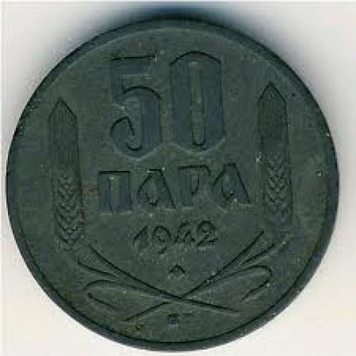 Coins; Serbia, 50 para, 1942