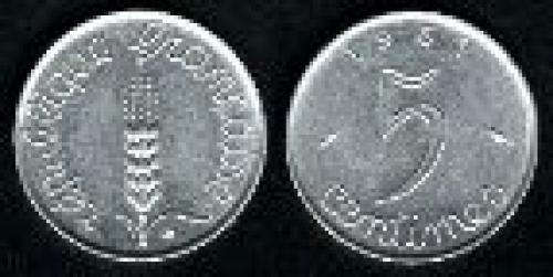 5 centimes; Year: 1961-1964; (km 927)