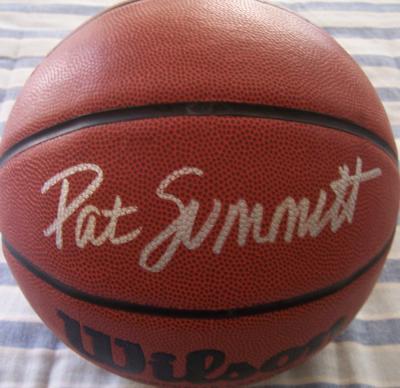 Pat Summitt (Tennessee) autographed Wilson NCAA basketball